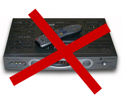 Cut the cable cord. Dump the box.